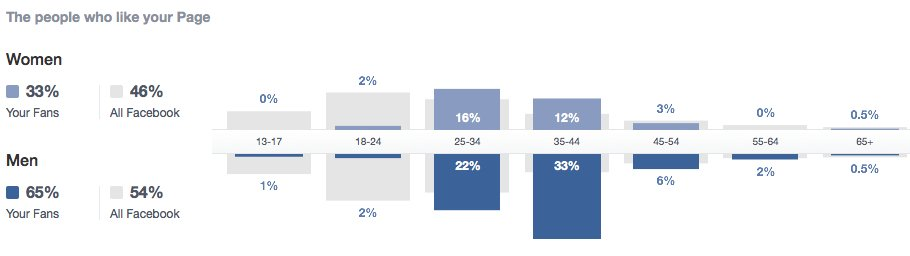Altersstruktur Facebook-Fans DenkfabrikBlog