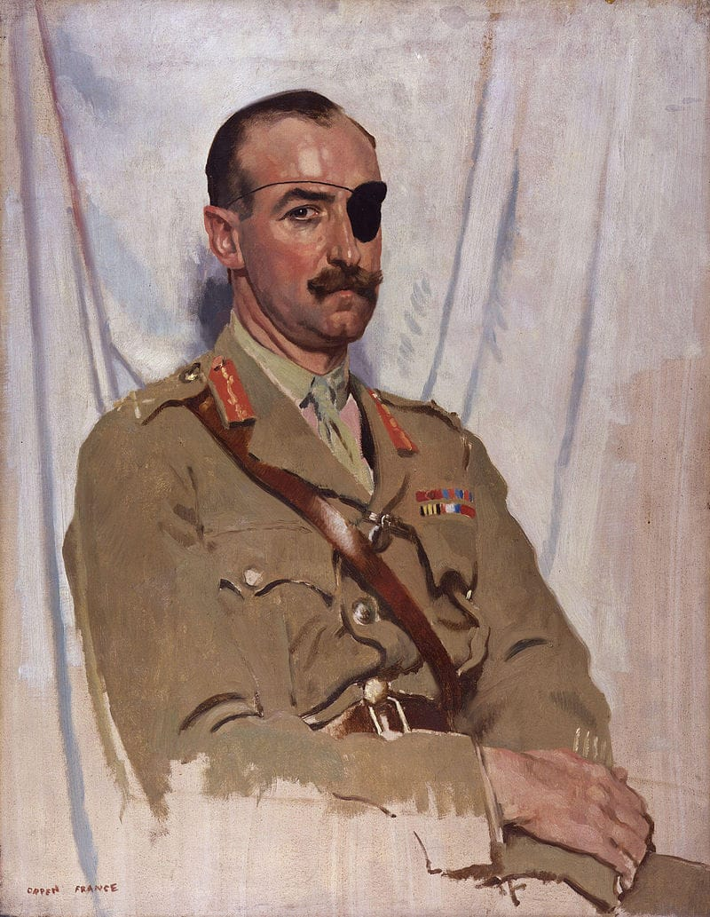 https://de.wikipedia.org/wiki/Adrian_Carton_de_Wiart#/media/File:Sir_Adrian_Carton_de_Wiart_by_Sir_William_Orpen.jpg