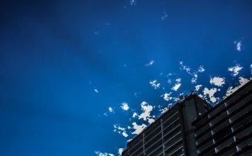Foto: Das Westcenter im Gegenlicht