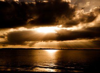 Foto: Sonnenuntergang in Laboe