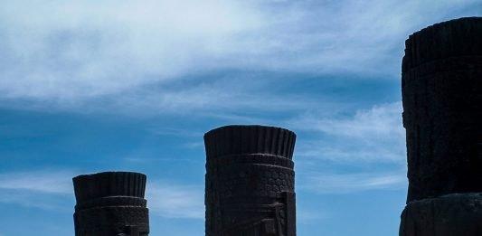 Blick zurück Atlanten Tula