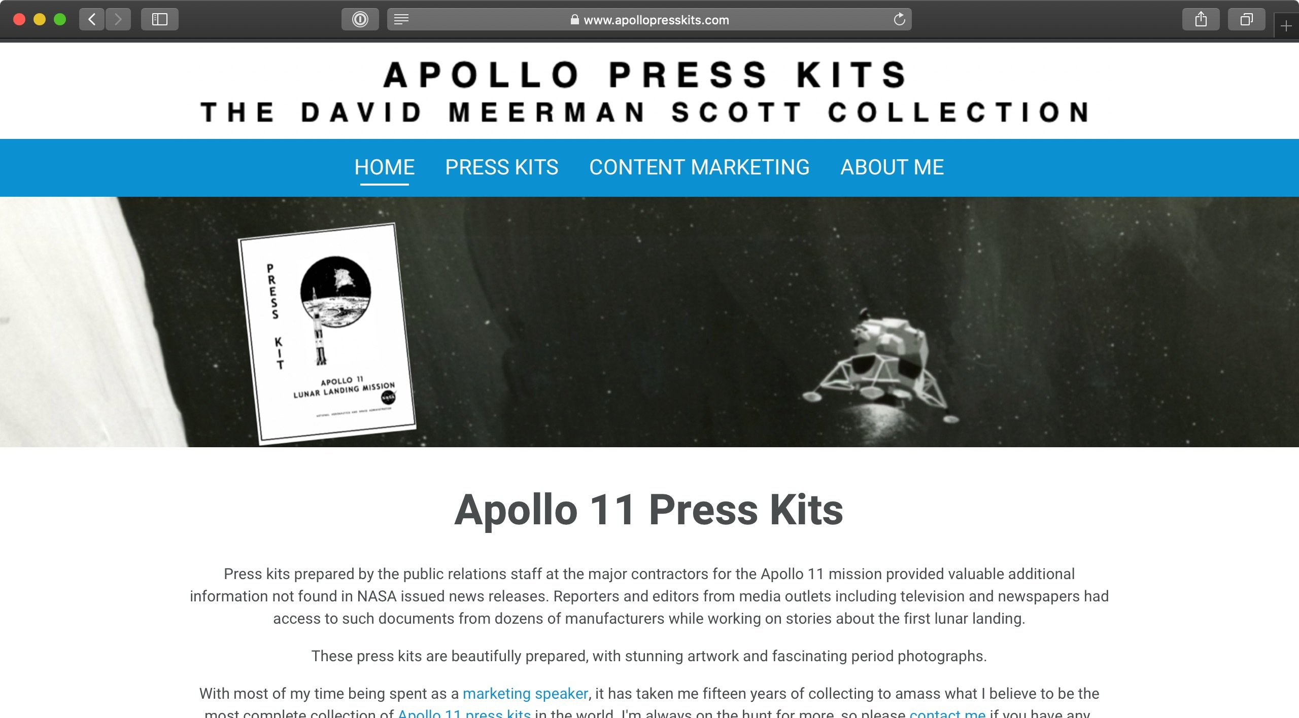 LinkTipp: Apollo 11 Press Kits