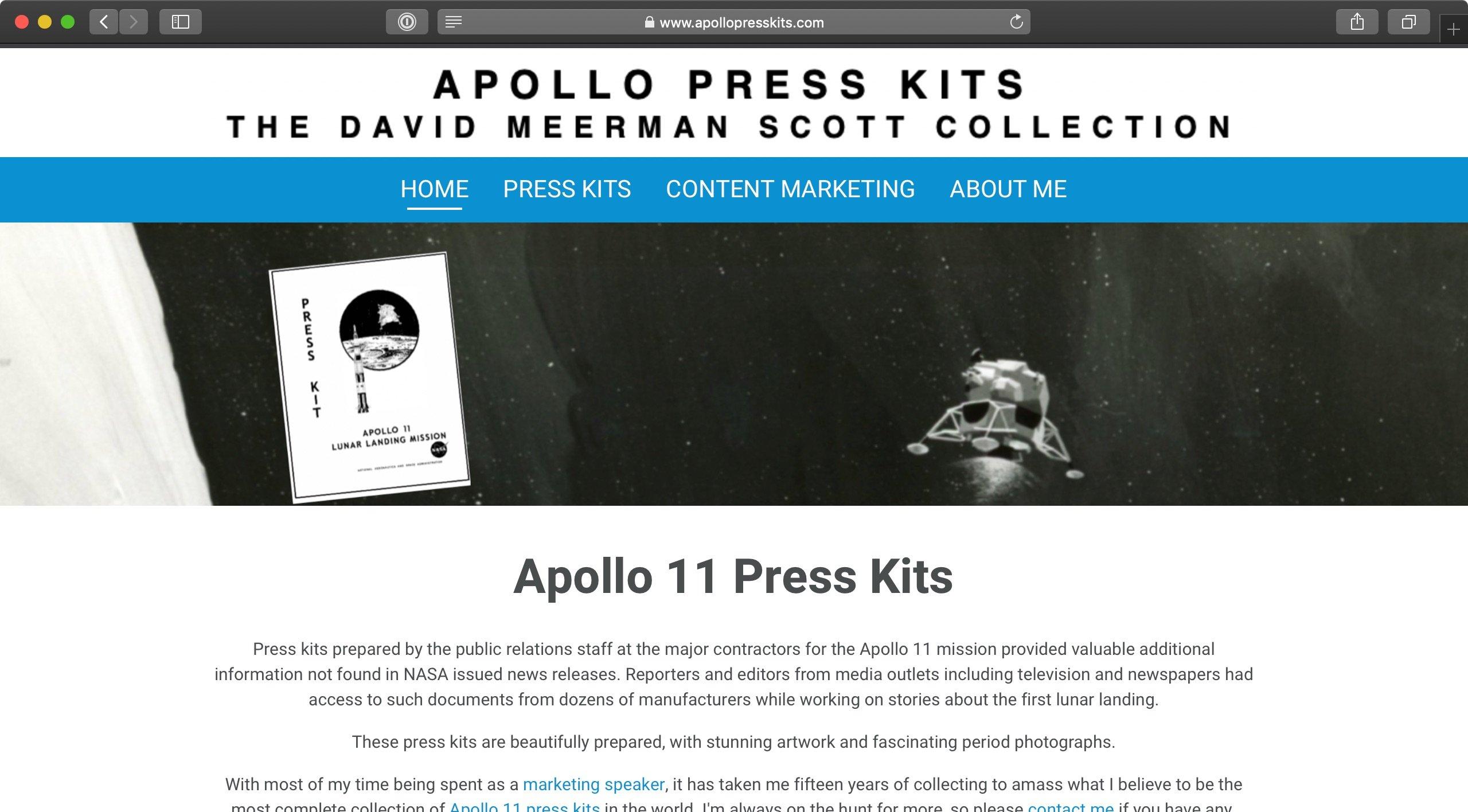 LinkTipp: Apollo 11 Press Kits