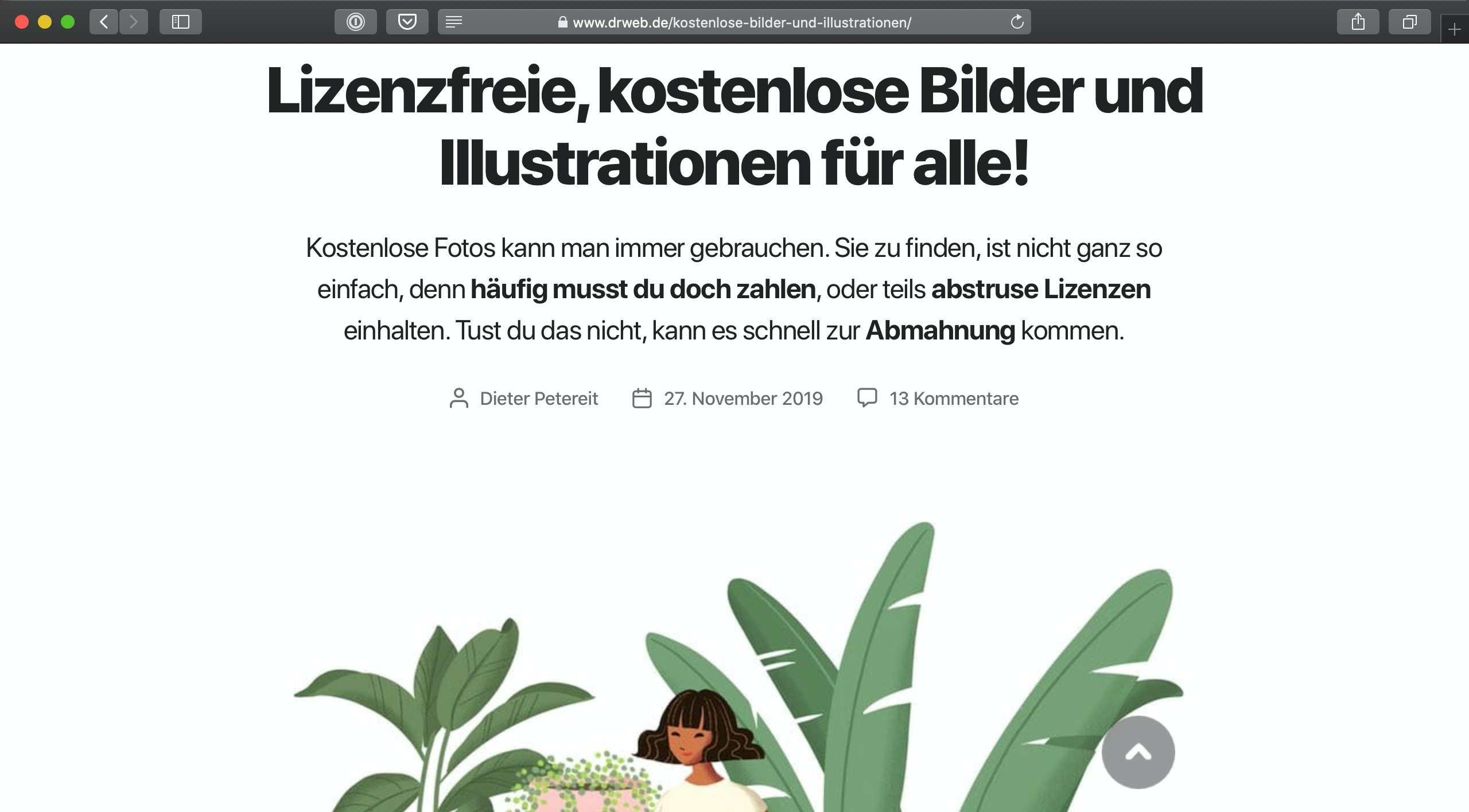 LinkTipp: Lizenzfreie, kostenlose Bilder und Illustrationen für alle!