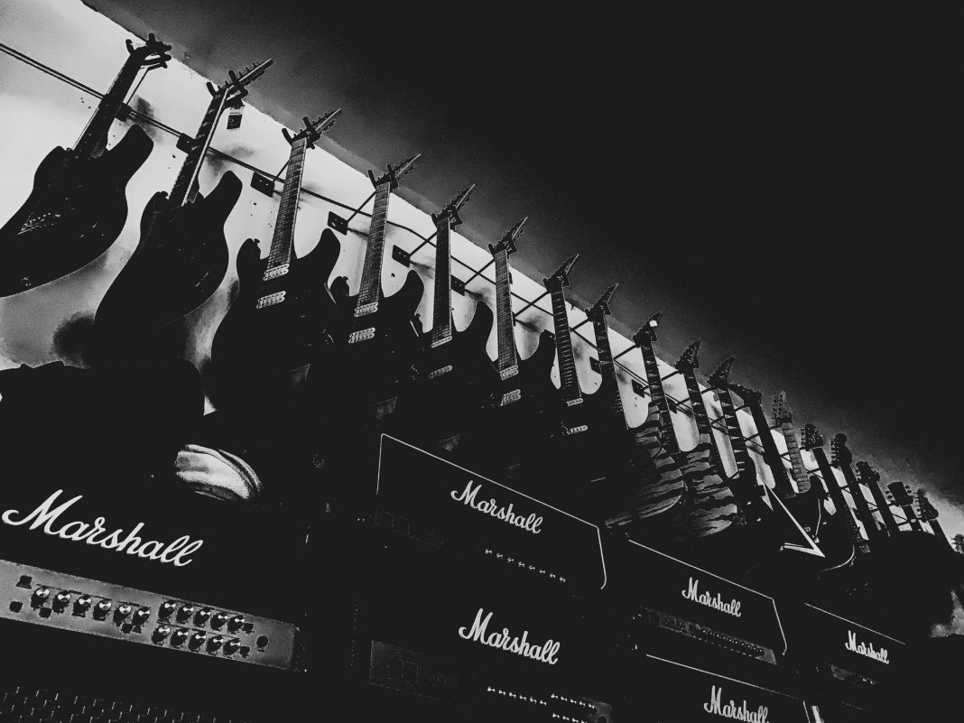 Foto: Gitarrenwand