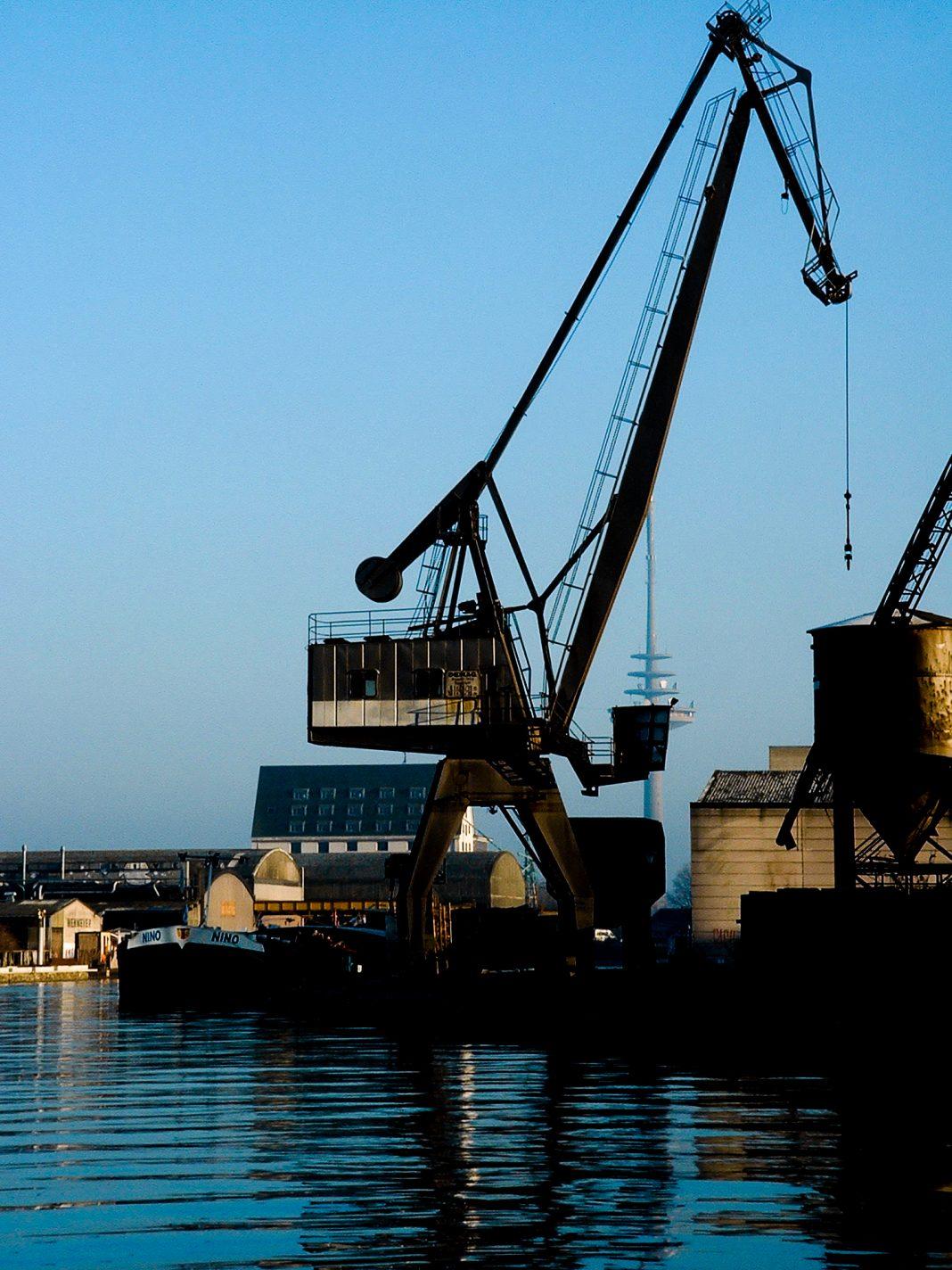 Foto: Der Kran im Hafen von Münster
