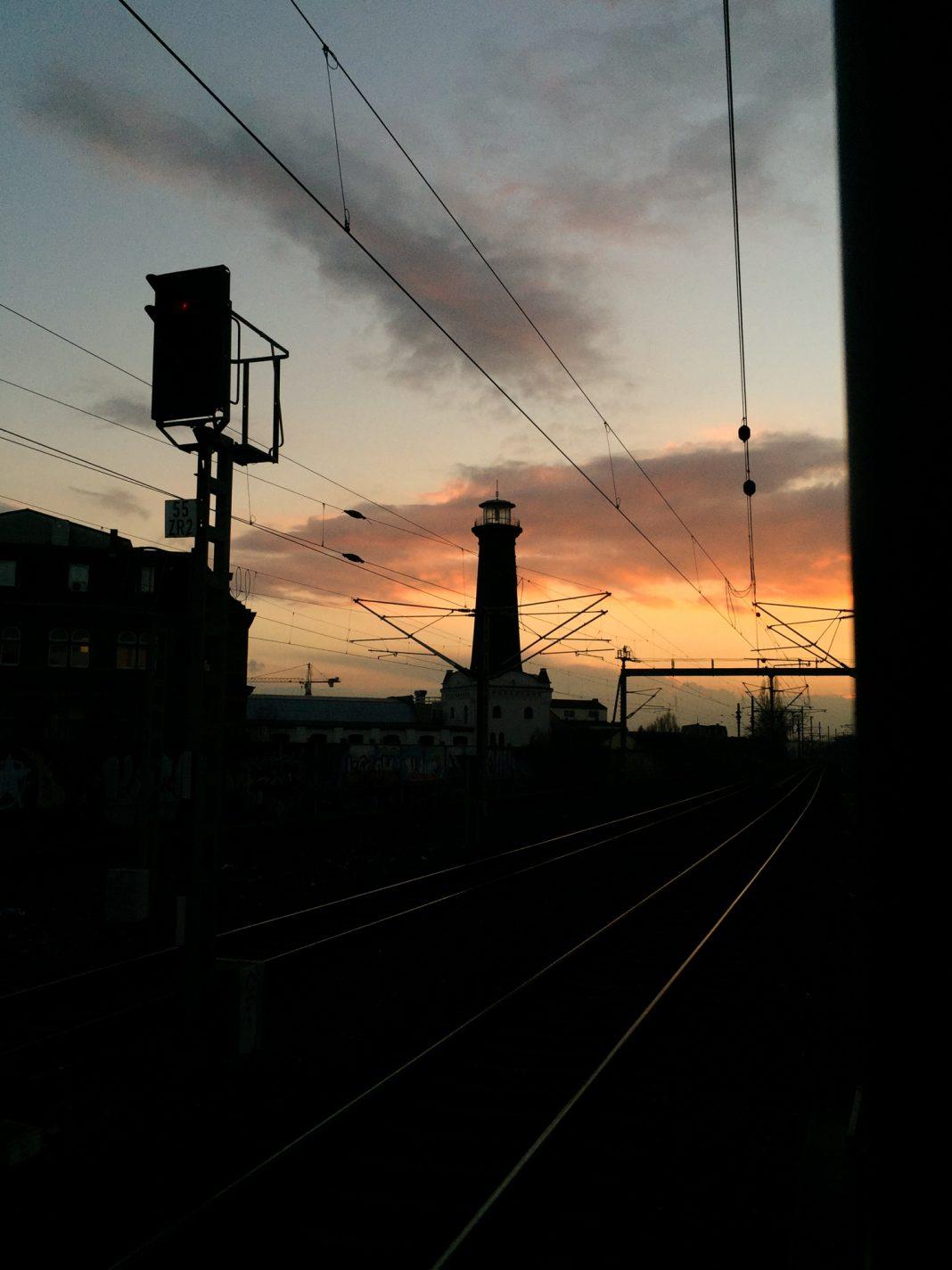 Foto: Heliosturm und Gleise